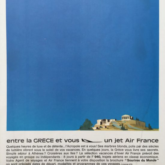 camapgne carrés bleus AIR FRANCE Roger Excoffon