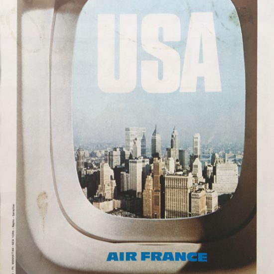 Air France - campagne internationale Hublots - 1971 - Roger Excoffon