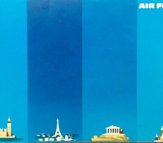 air France campagne internationale Carrés bleus -Excoffon