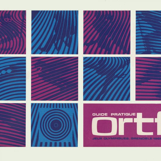 Couverture Guide ORTF - JO Grenoble 1968 - pictogrammes Roger Excoffon