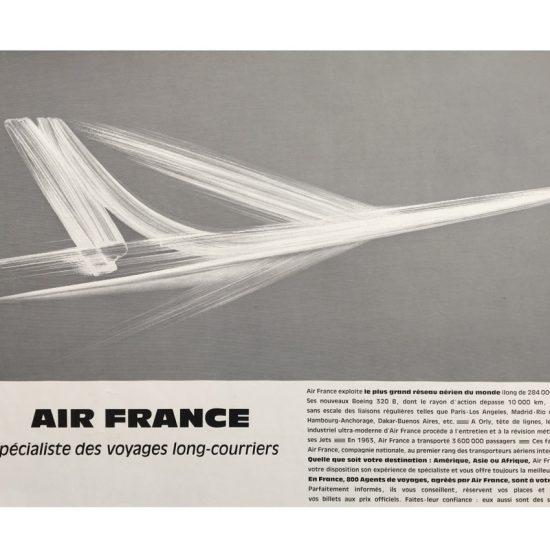 Air France -campagne spécialiste des longs courriers - Roger Excoffon