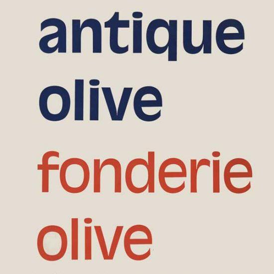 antique Olive - specimen - 1964 - RogerExcoffon