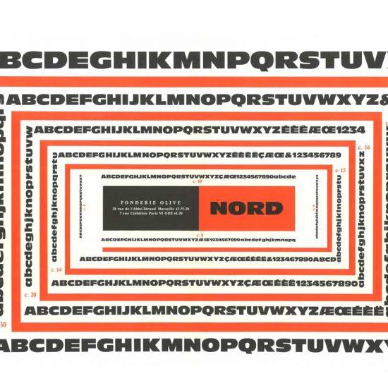 Spécimen caractère Nord, 1957 - Roger Excoffon