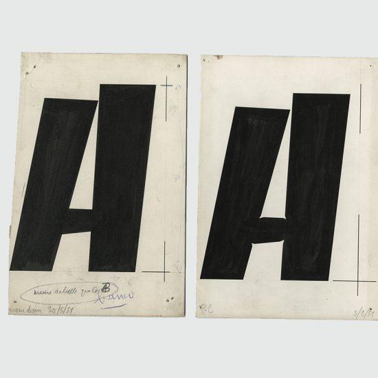 Dessin lettre A en Banco - Roger Excoffon