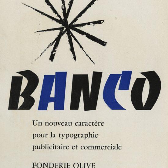 Annonce publicitaire Banco - 1951 - Roger Excoffon