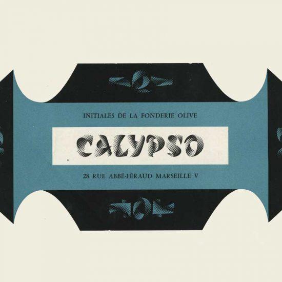 Spécimen typo Calyspo, 1958 - Roger Excoffon