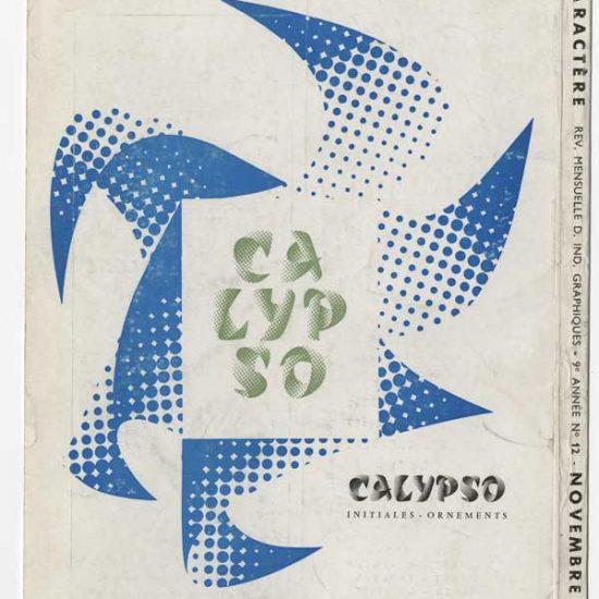 Annonce presse pour Calyspo, revue Caractère, 1958