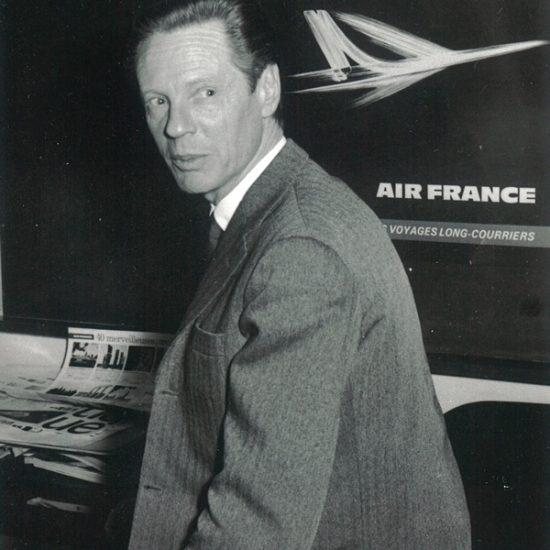 Roger Excoffon et l'affiche Caravelle d'Air France, vers 1965