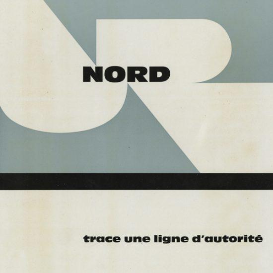 Annonce publicitaire caractère Nord, 1957 - Roger Excoffon