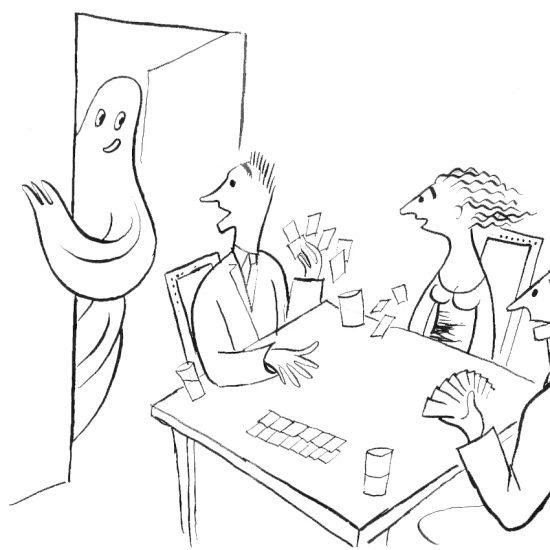 croquis humoristique de Roger Excoffon - le fantome
