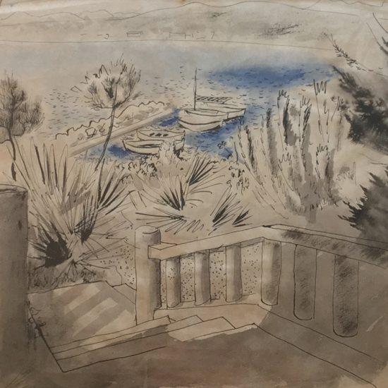 Roger Excoffon dessin La Ciotat, 1955