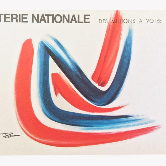 Affiche Loterie Nationale après essais de logos - 1971 - Roger Excoffon
