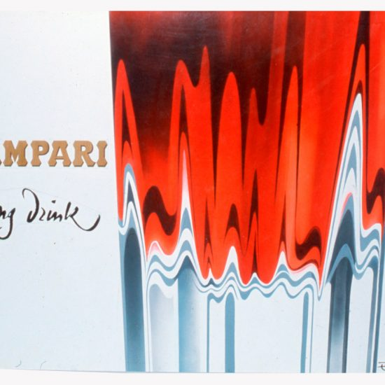 Affiche Campari Long Drink 1971 Roger Excoffon
