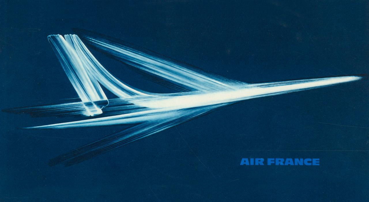 Campagne pour la Caravelle d'Air France en 1964 - Roger Excoffon