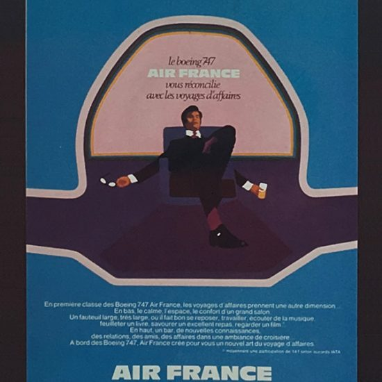 Annonce publicitaire Air France Boeing 747 - Roger Excoffon