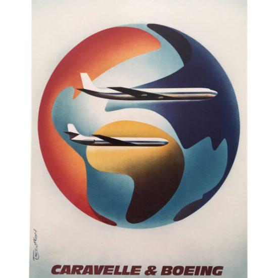 Air France - Caravelle et Boeing, 1978 - Roger Excoffon
